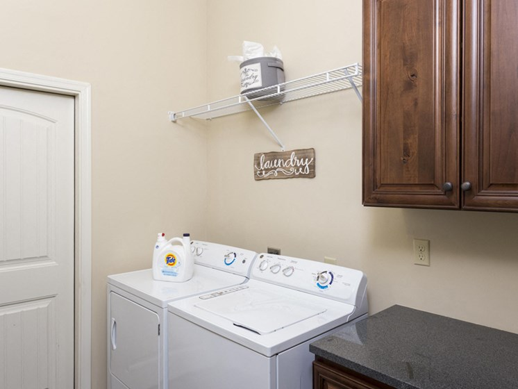 Model apartment home laundry room