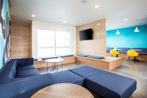 clubhouse with TV