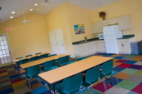 Clubhouse with Kitchen and Dining Area at Westchase, Fort Myers, FL, 33916