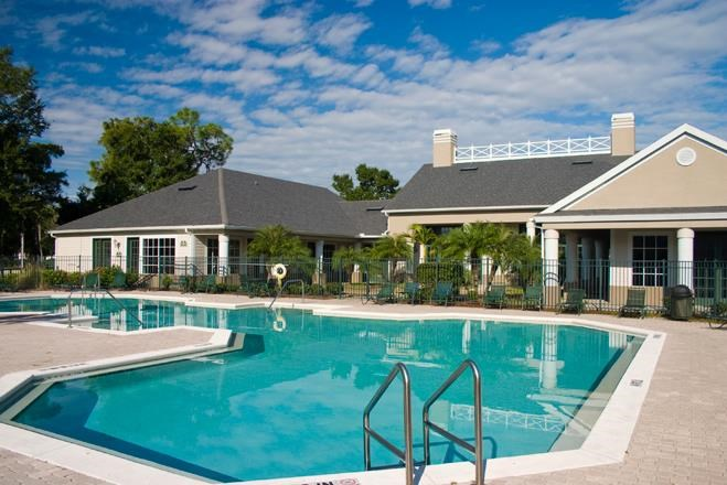 Poolside Sundeck and Grilling Area at Westwood, Florida, 33916