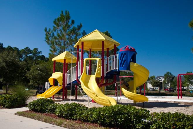 On-site Tot Lot at Whispering Woods, St Augustine, FL