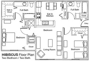 Whispering Woods 2x2 Floor Plan