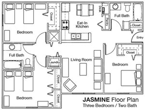 Whispering Woods 3x2 Floor Plan