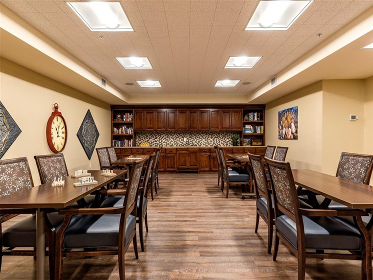Multi-Purpose Entertainment Room  at Pacifica Senior Living Oxnard, Oxnard, CA, 93036