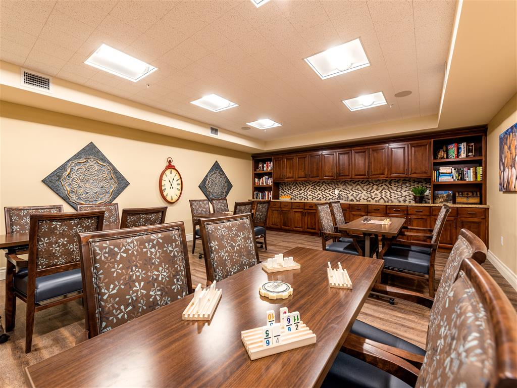 Comfortable Chairs in Game Room at Pacifica Senior Living Oxnard, Near Channel Islands