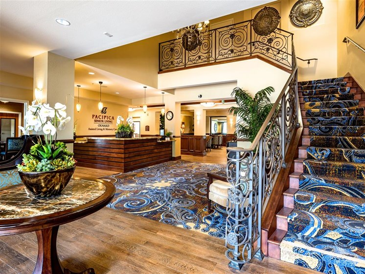 Easy-Access Staircase at Pacifica Senior Living Oxnard, California, 93036