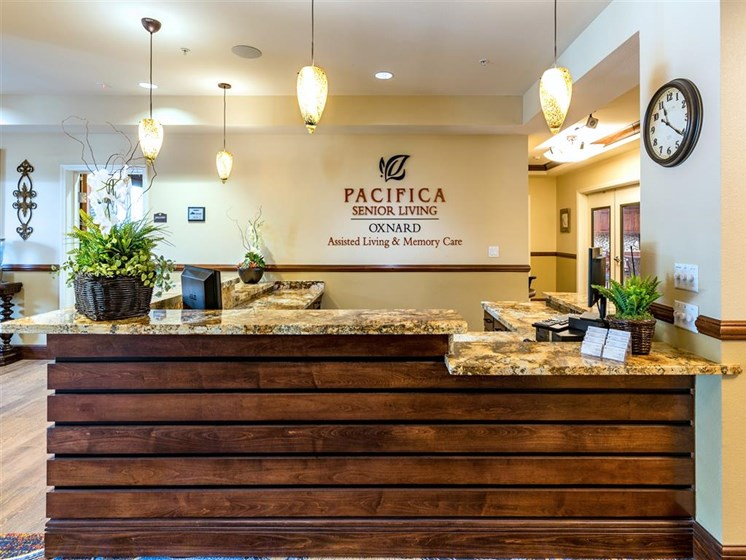 Welcoming Concierge  at Pacifica Senior Living Oxnard, California, 93036