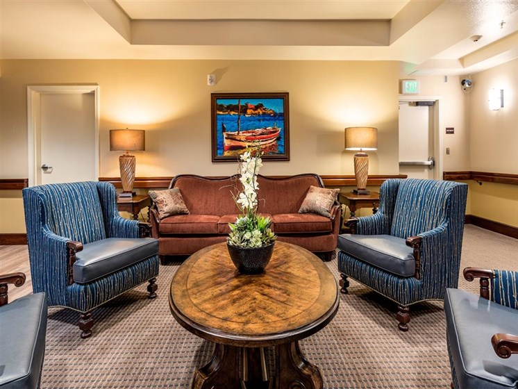 Comfortable Chairs at Pacifica Senior Living Oxnard, Ventura County, CA, 93036