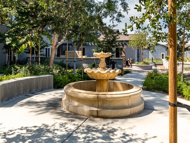 Elegant Fountain at Entrance at Pacifica Senior Living Oxnard, Oxnard, 93036