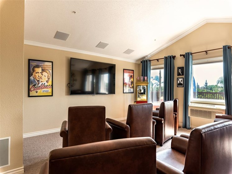 Theater Room With Comfortable Chairs at Pacifica Senior Living Oxnard, Oxnard, 93036