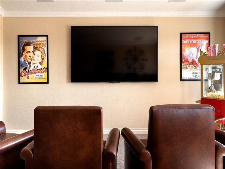 Movie Room With Comfortable Chairs at Pacifica Senior Living Oxnard, Oxnard, 93036