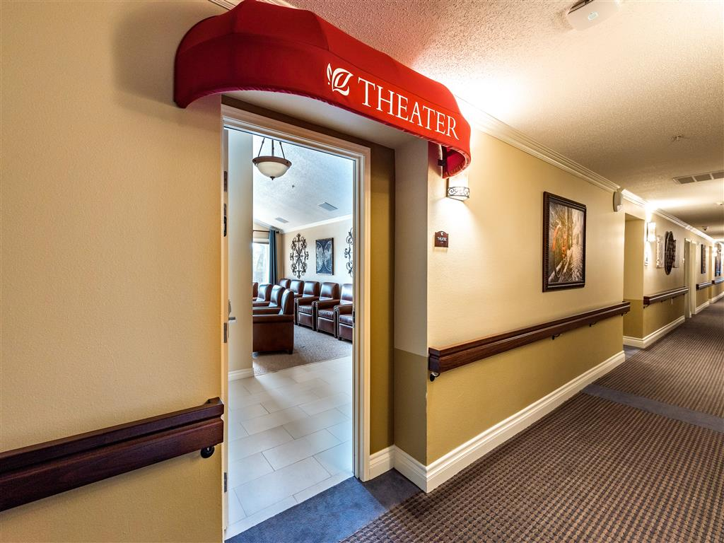 In-Home Movie Theater  at Pacifica Senior Living Oxnard, Oxnard, 93036