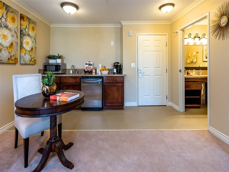 Spacious Kitchen with Upgraded Appliances  at Pacifica Senior Living Oxnard, Oxnard, CA, 93036