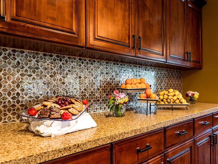 Granite Countertops  at Pacifica Senior Living Oxnard, California