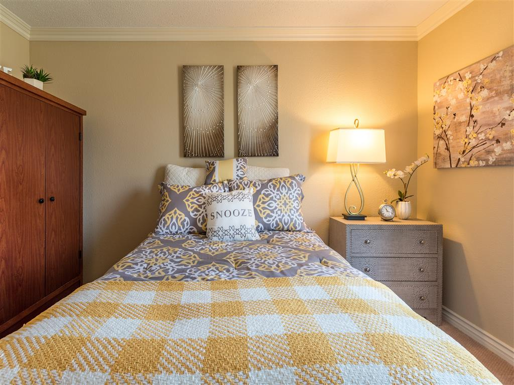 Well-Decorated Bedroom at Pacifica Senior Living Oxnard, California, 93036
