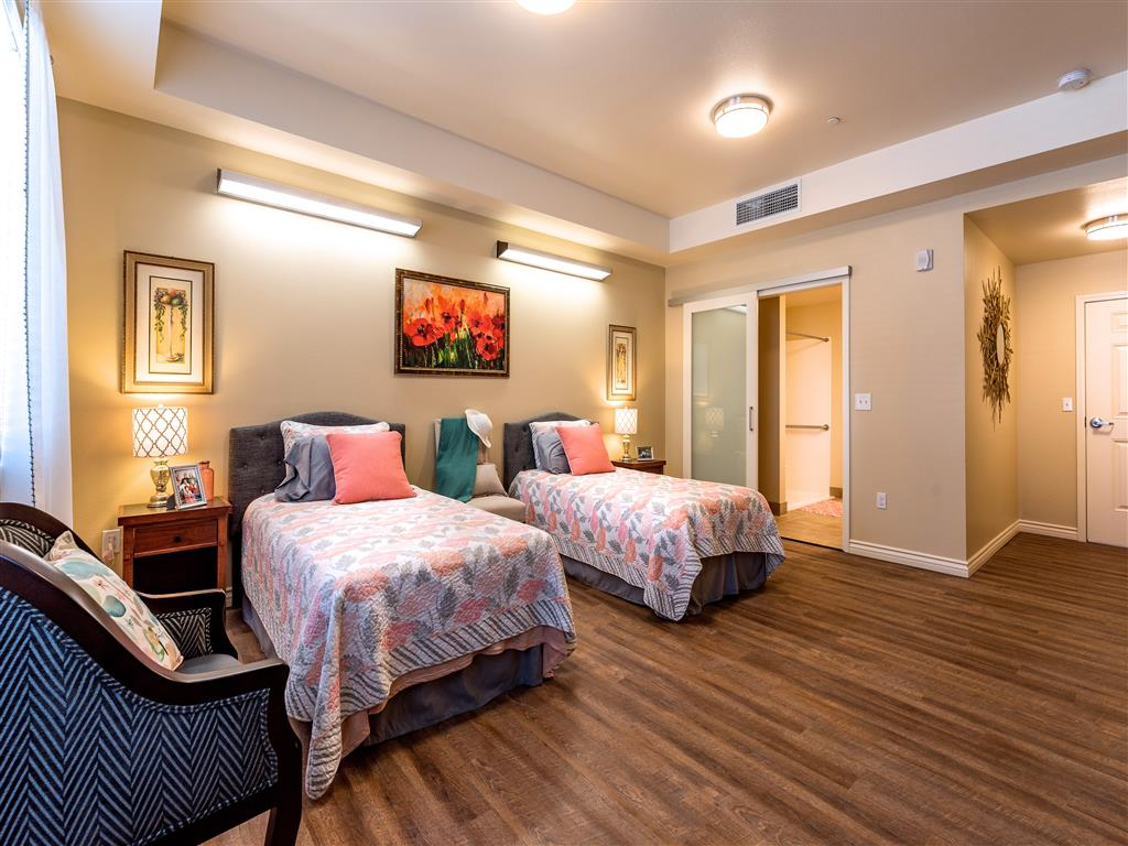 Spacious Shared Rooms with Large Closets    at Pacifica Senior Living Oxnard, Ventura County, California
