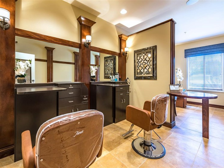 Hair Salon  at Pacifica Senior Living Oxnard, Oxnard, CA, 93036