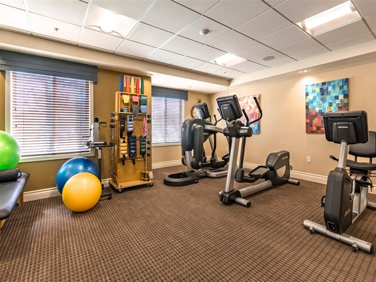 Upgraded Fitness Studio  at Pacifica Senior Living Oxnard, Oxnard, 93036