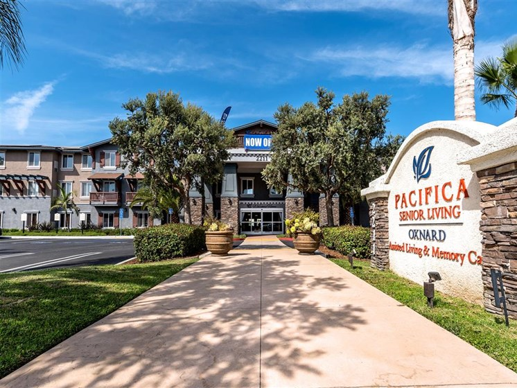 Property Entrance  at Pacifica Senior Living Oxnard, Oxnard, California