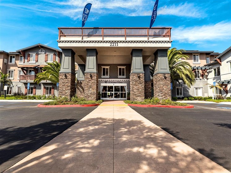 Elegant Walk To Entrance   at Pacifica Senior Living Oxnard, Oxnard, California