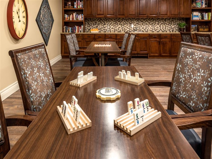 Game Room at Pacifica Senior Living Oxnard, Oxnard, 93036