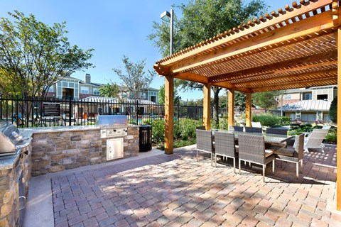 Grill Station with outdoor cabanas