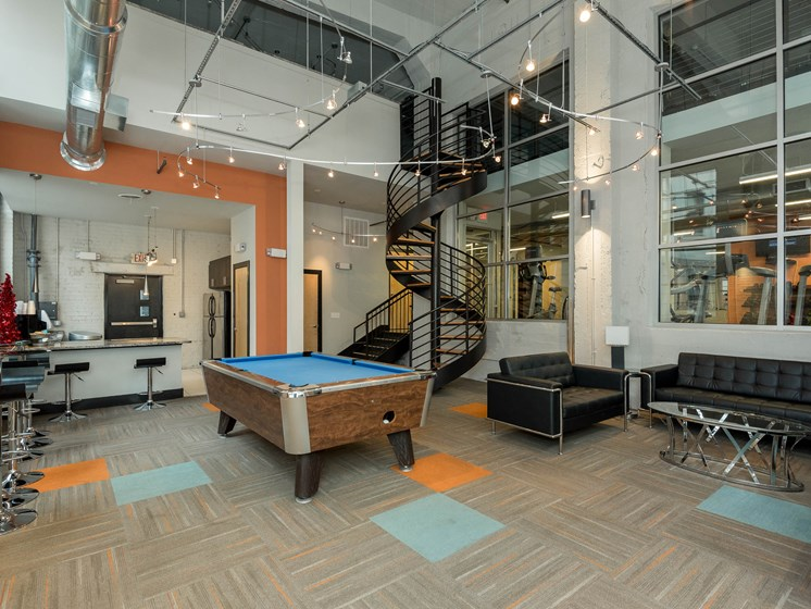 Community Clubhouse with Pool Table