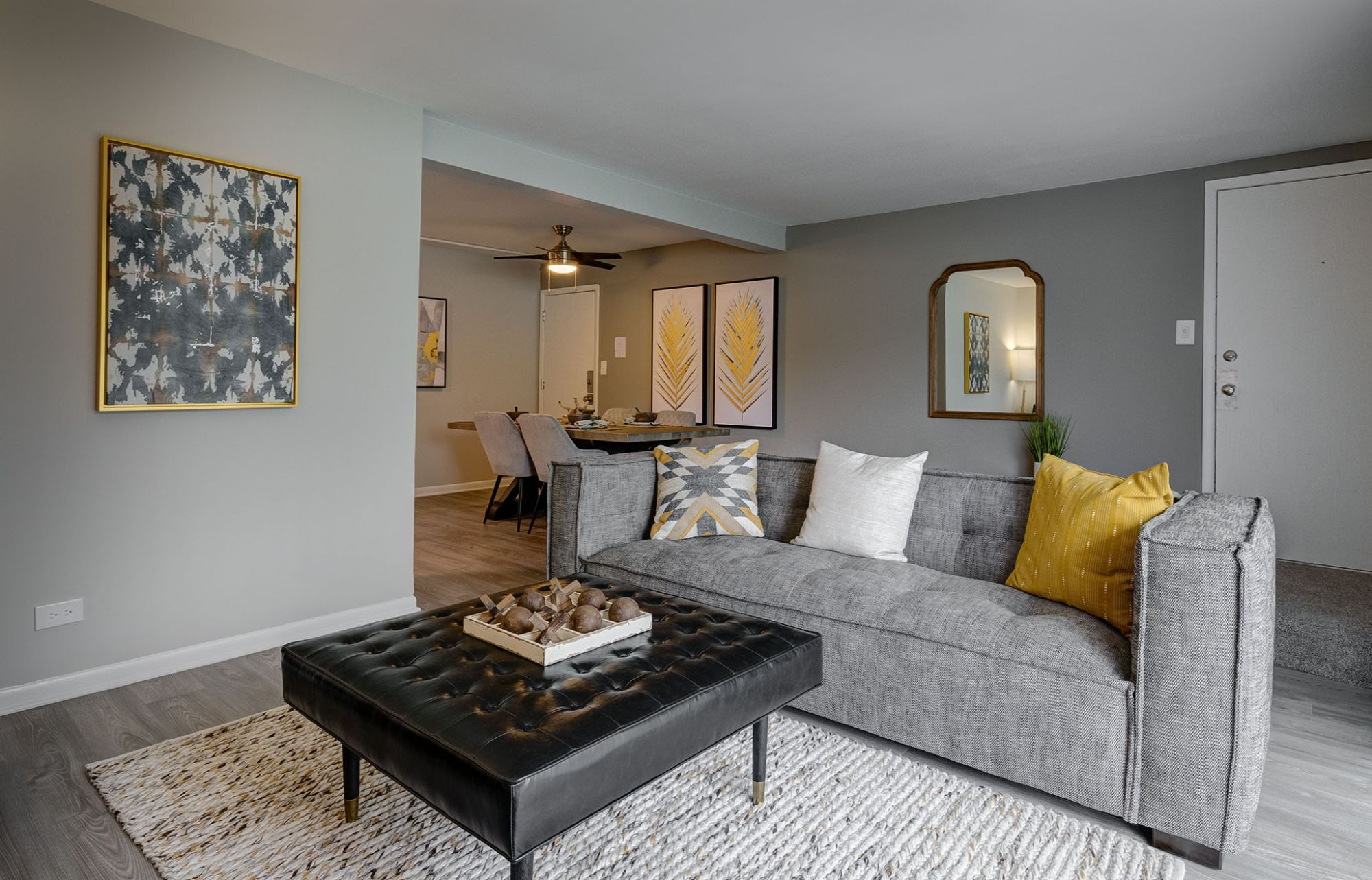 Trendy Living Room at Westmont Village, Illinois, 60559