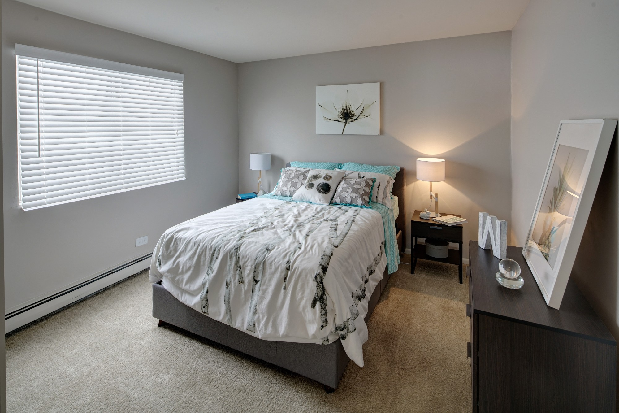 Spacious Bedroom With Comfortable Bed at Westmont Village, Illinois, 60559