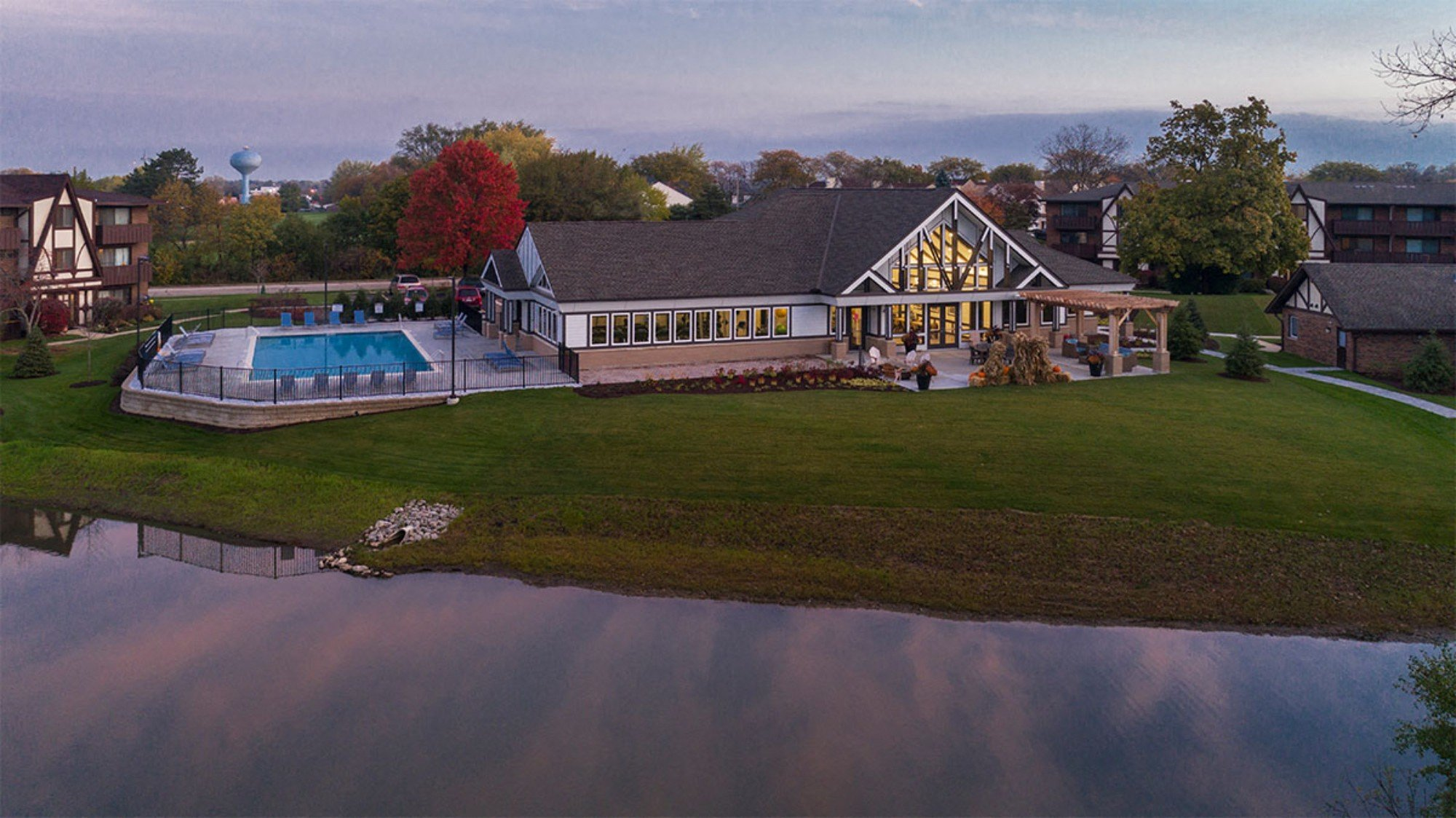 Exceptional Water Views at Westmont Village, Westmont, Illinois