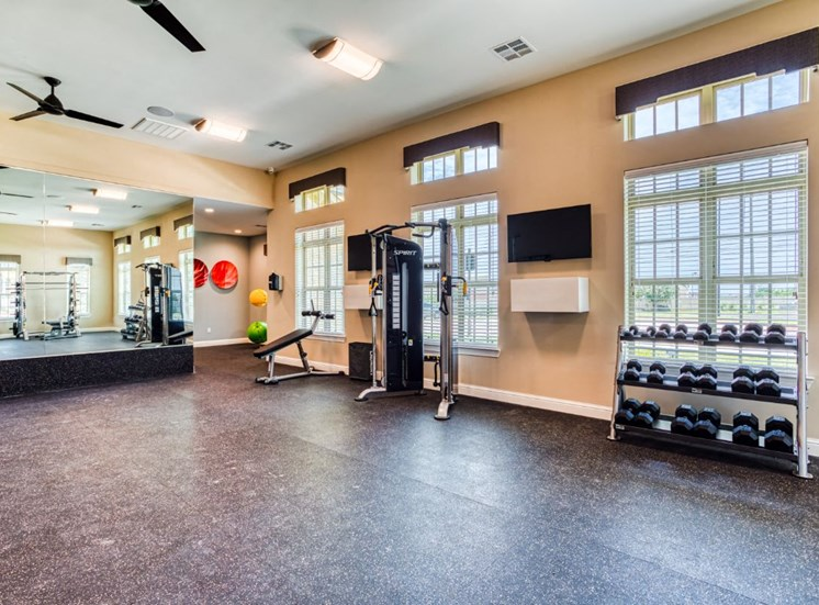 High-Tech Fitness Center, at Carroll at Rivery Ranch, Texas, 78628