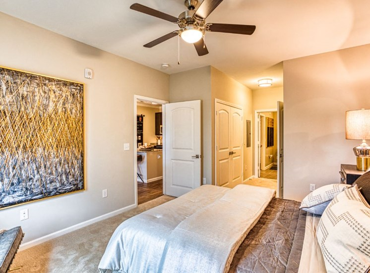 Master Bedroom With Adequate Storage, at Carroll at Rivery Ranch, Georgetown, 78628