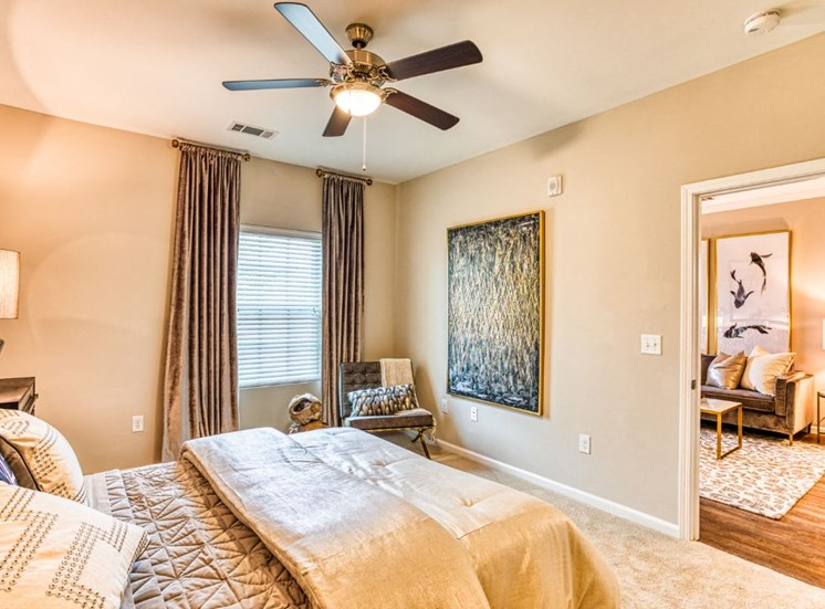 Private Master Bedroom, at Carroll at Rivery Ranch, Georgetown, Texas
