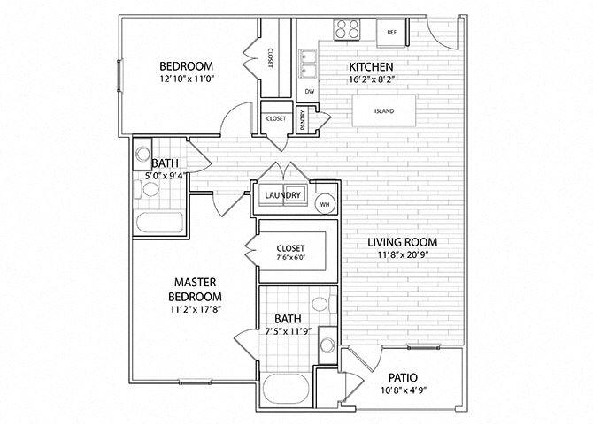 Palisade | 2 Bedroom 2 Bath Apartment