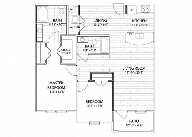 Sierra | 2 Bedroom 2 Bath Apartment