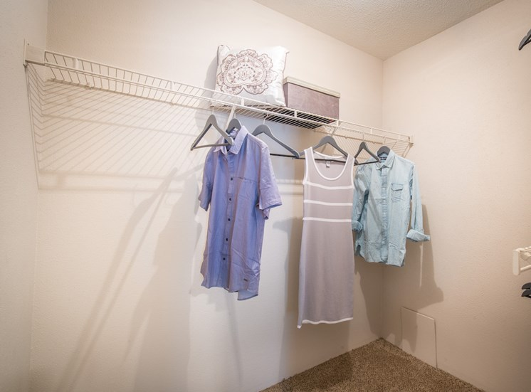 Steeplechase apartments in knoxville, TN walk-in closet