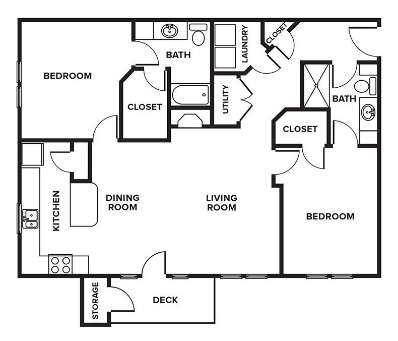 Floorplan for fitzgerald, at Whispering Hills, Omaha, 68164