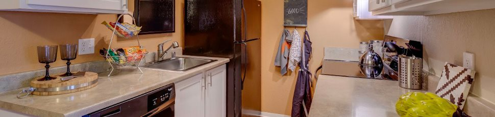 banner image of apartment building kitchen