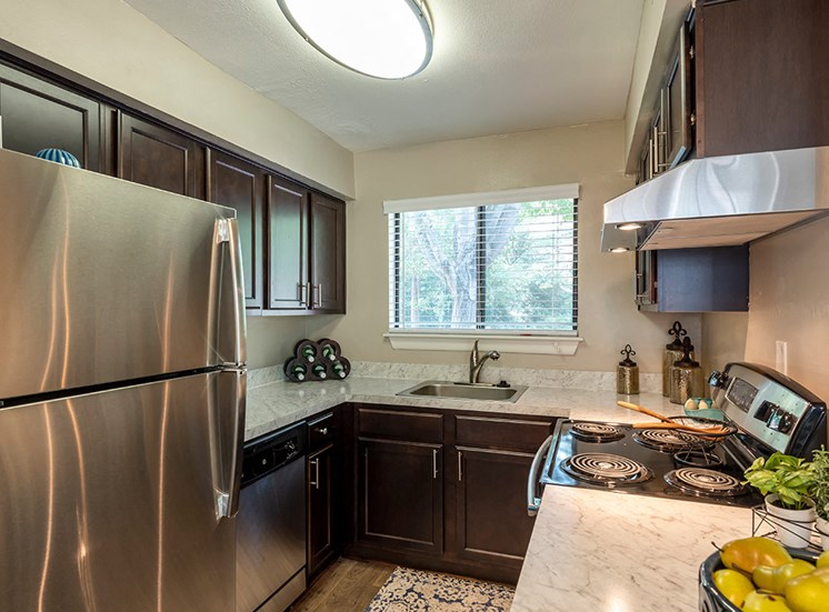 Updated Kitchen at Vert at Six Forks Apartments