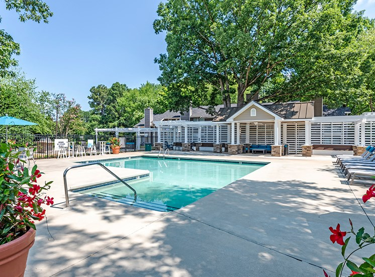 Pool and Clubhouse at Vert at Six Forks Apartments