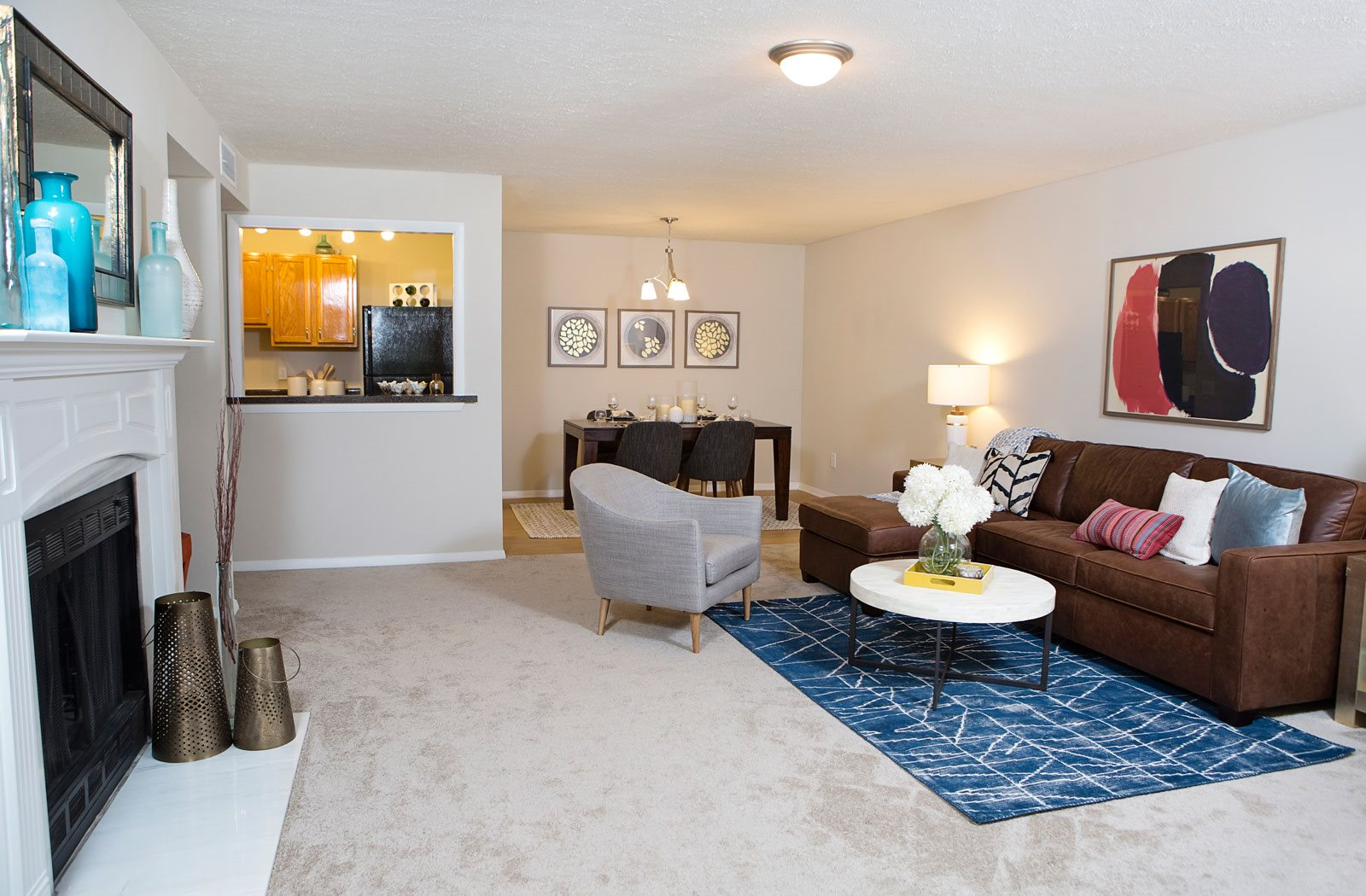 luxury living room apartments | Atria at Crabtree Valley Apartments in Raleigh, NC