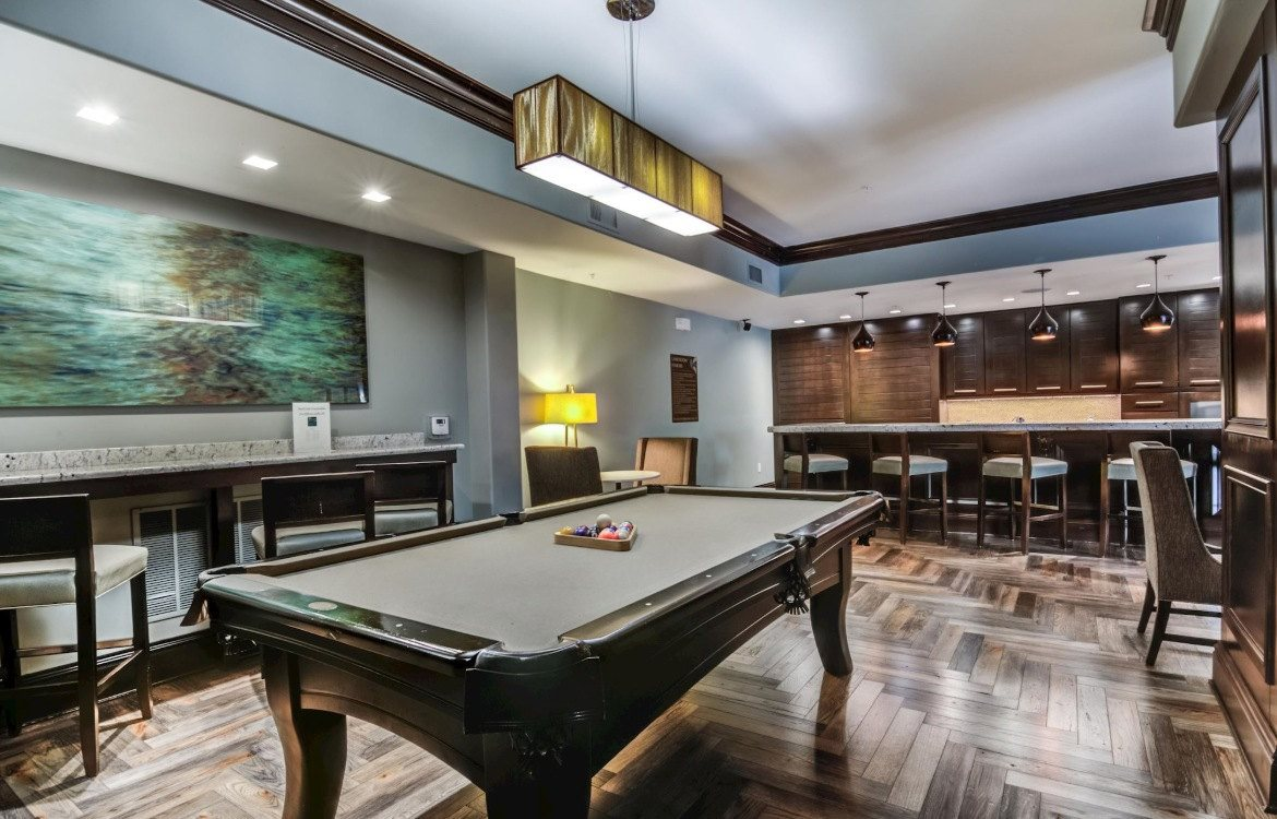 apartments with game lounge and pool table
