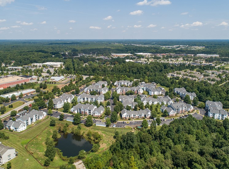 Swift Creek Commons Apartments - Exterior aerial of property