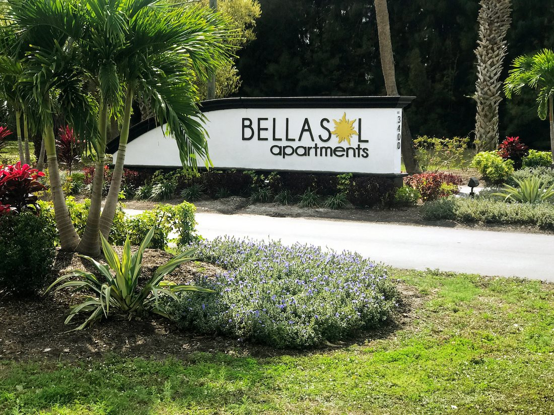 BellaSol Apartments in Sarasota, FL entrance sign