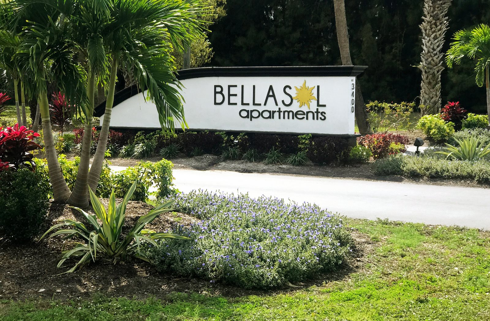 Bellasol Apartments entrance sign