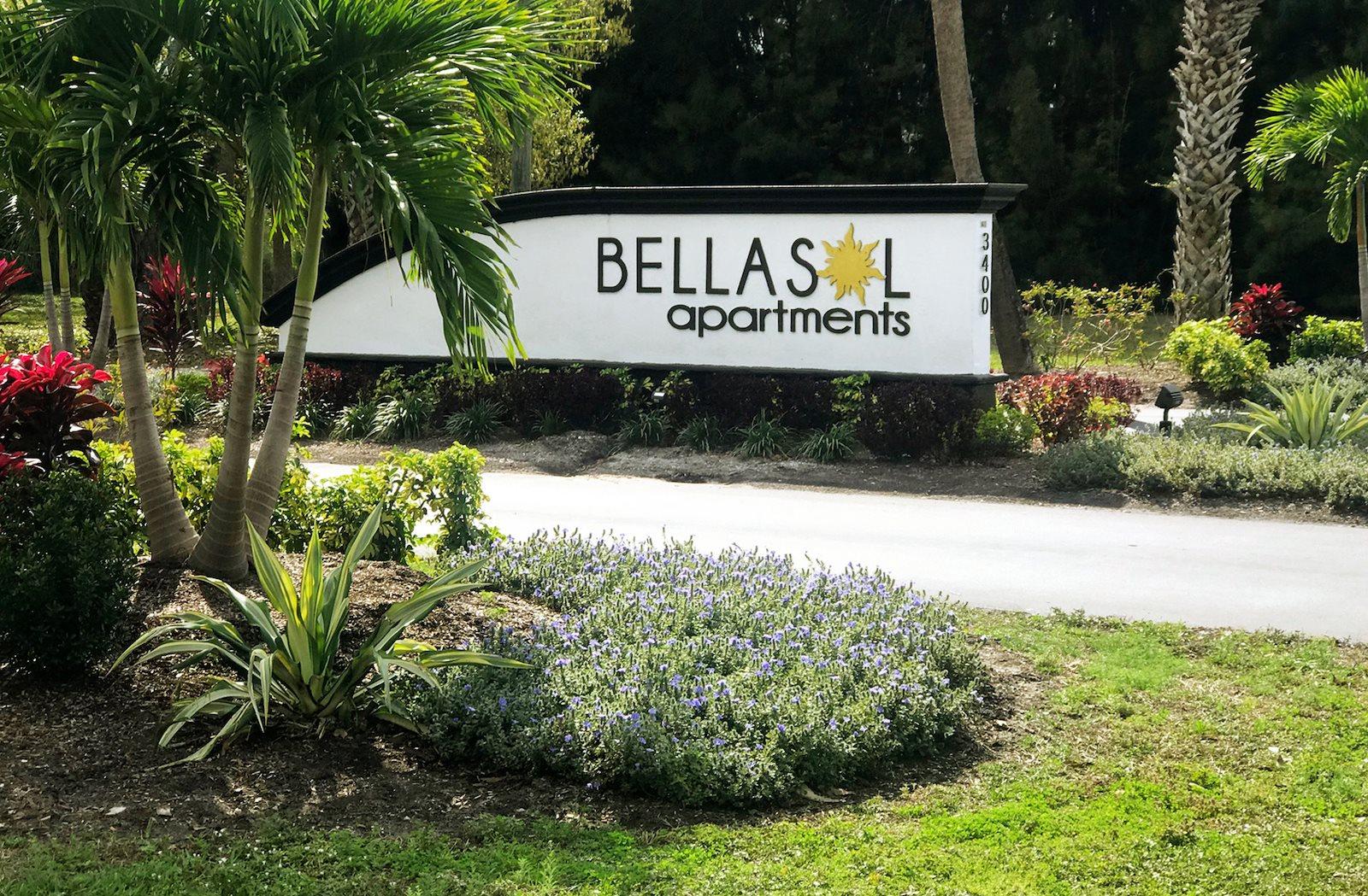 BellaSol Apartments in Sarasota, FL entrance signage