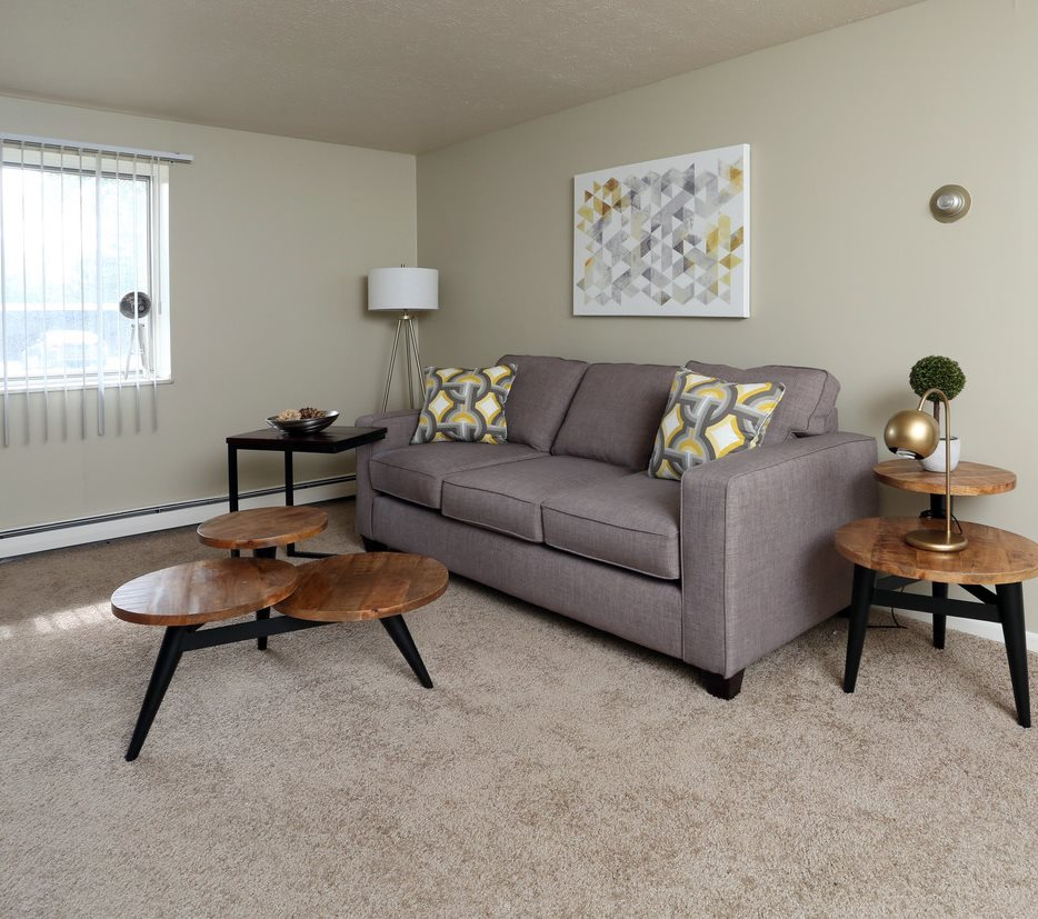 Living area at Columbus Park Apartments in Bedford Heights, Ohio