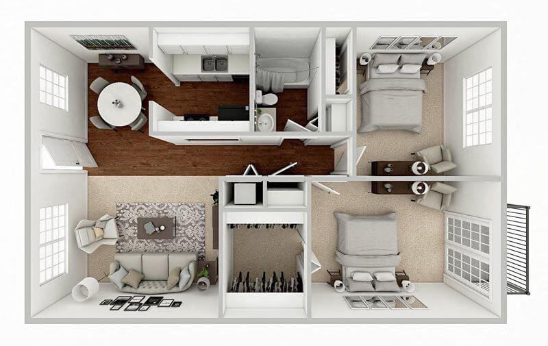 two bedroom apartment floor plan in baton rouge