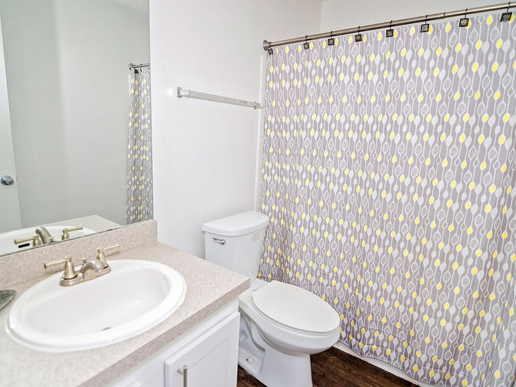 Bathroom at 21 South Parkview Apartments in Baton Rouge, LA