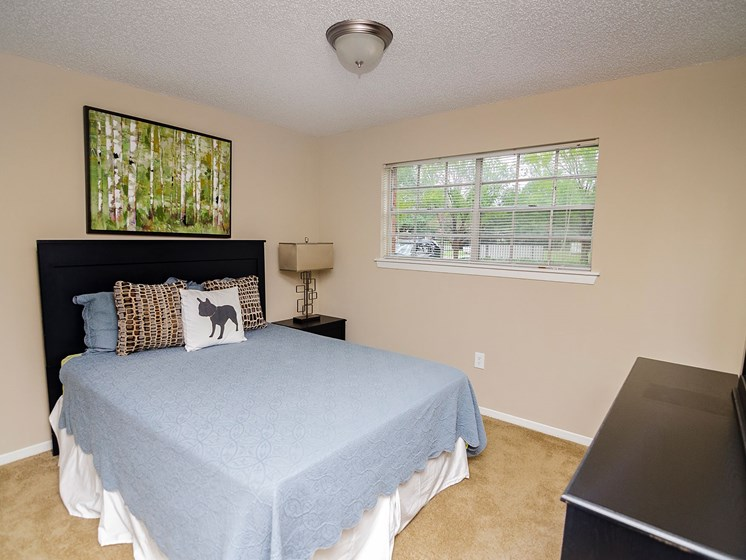 Bedroom at 21 South at Parkview Apartments in Baton Rouge, LA